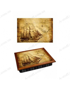 """Tray on a pillow laptop / breakfast """"Ancient ship"""""""
