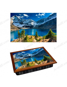 "Tray on a pillow laptop / breakfast ""Lake O'Hara"""