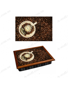 """Tray on a pillow laptop / breakfast """"Coffee Time 2"""""""