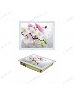 """Tray on a pillow laptop / breakfast """"Orchid"""""""