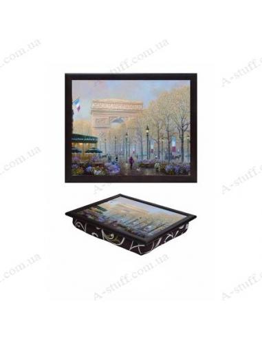 """Tray on a pillow laptop / breakfast """"Arc de Triomphe 2"""""""