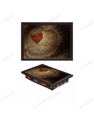 """Таця на подушці для ноутбука / сніданку """"Любов у серці"""""""