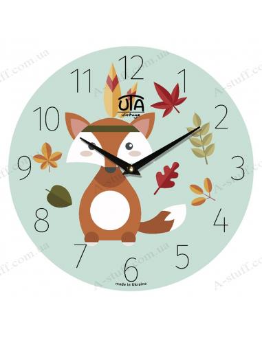 """Годинник настінний """"Лис і осіннє листя"""""""
