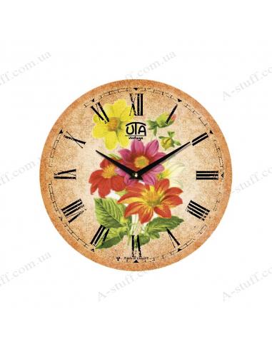 """Годинник настінний """"Садовий букет"""""""