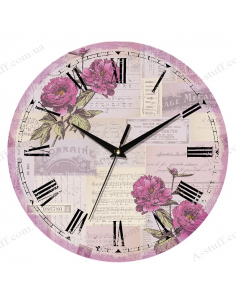 "Clock for wall ""Flowers on the notes"""