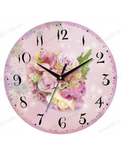 "Clock for wall ""Bouquet 2"""