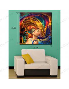 Картина Волосы - радуга