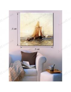 """Картина """"Корабль и маленькая лодка"""""""