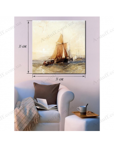 """Painting """"The ship and small boat"""""""