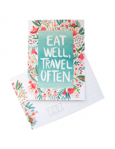 "Postcard ""Eat and travel"""