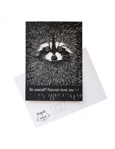 "Postcard ""Raccoon"""