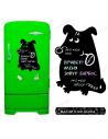 "Chalk board on the fridge ""Dog Mongrel"""