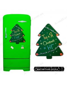 "Magnetic board on the fridge for chalk ""Big Christmas Tree"""