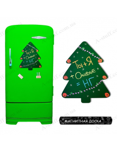 """Magnetic board on the fridge for chalk """"Christmas Tree"""""""
