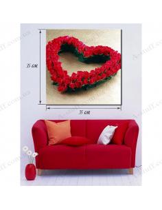 "Картина ""Сердце из роз"""