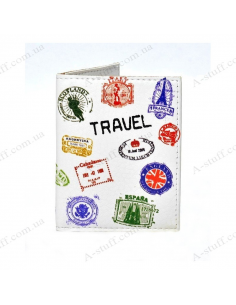 "Cover on the id passport eco leather ""Travel"""