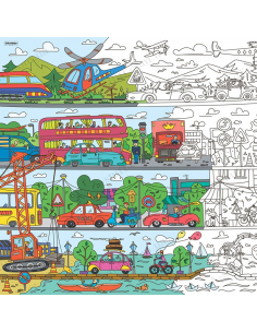 """Coloring XL """"Adventures in the the car park"""""""