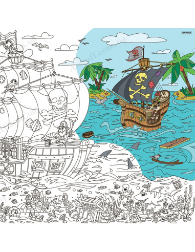 Раскраска XL «Пираты: на краю света»