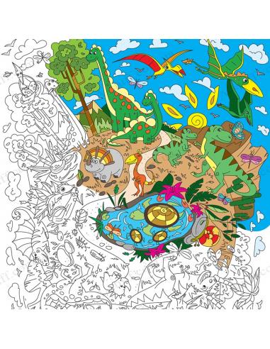 Раскраска XL «Диноленд»