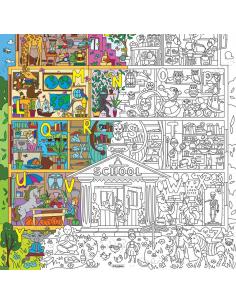 """Coloring XL """"Super School"""""""