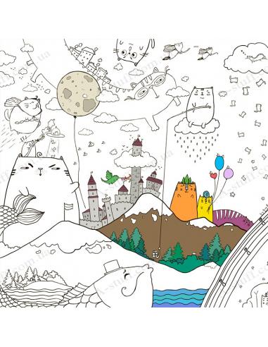 Раскраска XL «Котоляндия»