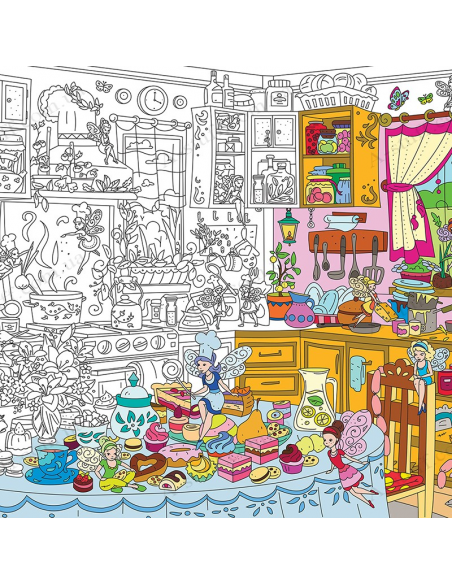"Coloring XL ""Kitchen Fairy"""