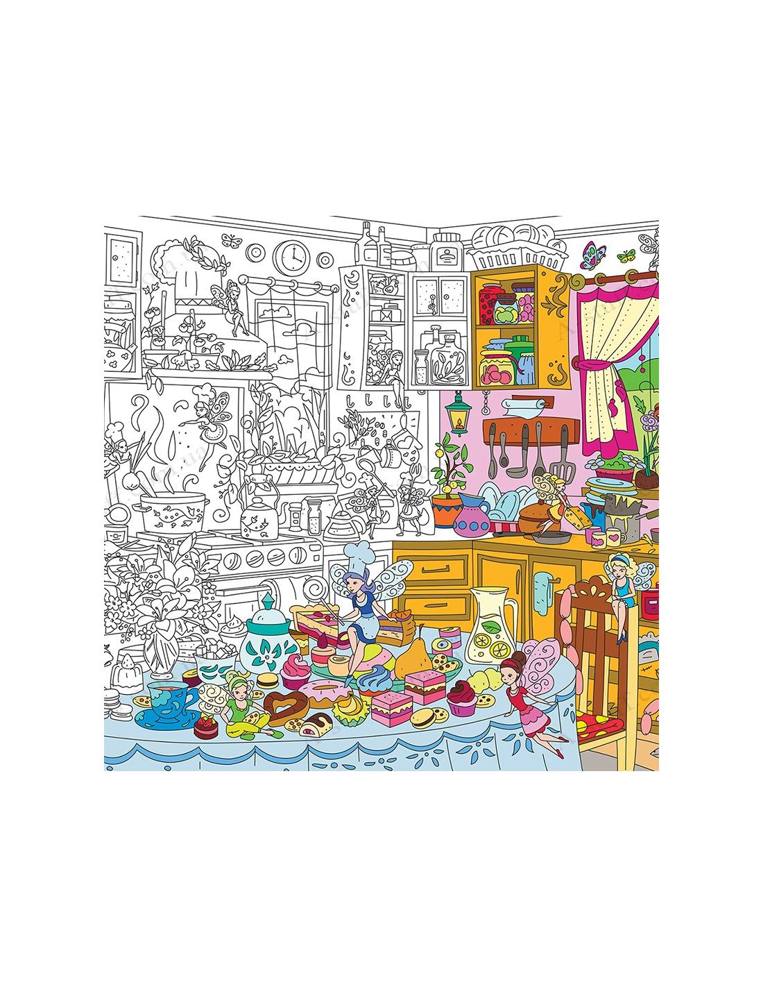 Купить раскраску XL «Кухонные феи»