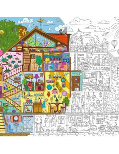 Раскраска XXL «Дом, милый дом.»