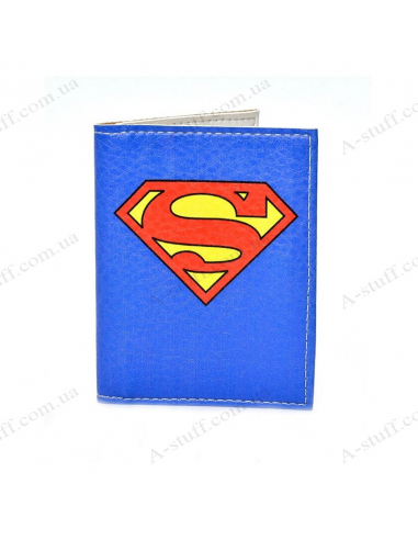 "Cover on the id passport eco leather ""Superman"""