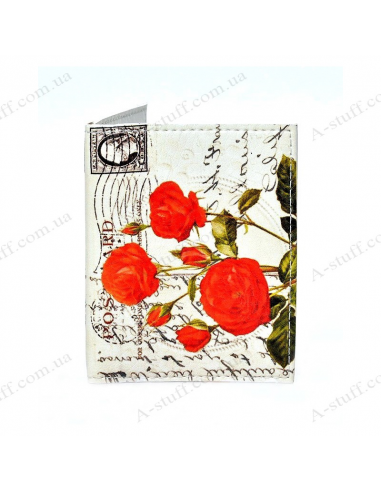 "Cover on the id passport eco leather ""Poppies 3"""