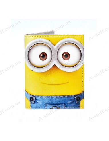"Cover on the id passport eco leather ""Minion"""