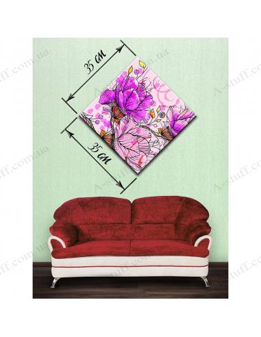 """Картина """"Нарисованные цветы"""""""