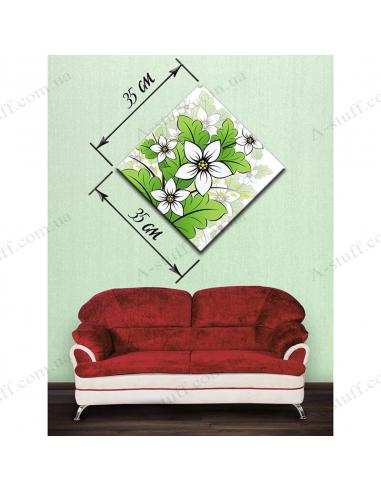 """Картина """"Цветы в зелёном"""""""