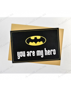 "Postcard ""You are my hero 1"""