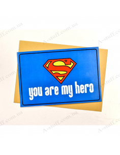 "Postcard ""You are my hero 2"""