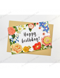 "Postcard ""Happy Birthday"""