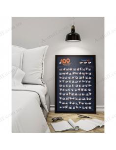 "Skretch poster ""Kamasutra edition 100 BucketList"""
