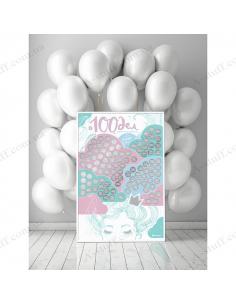 """Мотиваційний скретч-постер """"100 СПРАВ СПРАВЖНЬОЇ ДІВЧИНКИ OhMyLook Edition"""""""