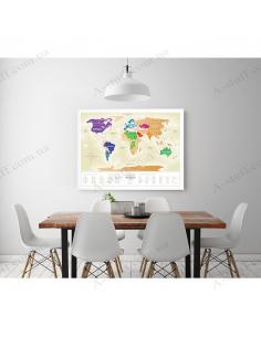 Скретч карта світу Travel Map «Gold World» (російською мовою)