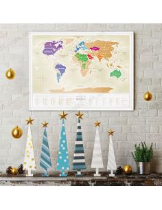 Скретч карта мира Travel Map «Gold World» (на украинском языке)