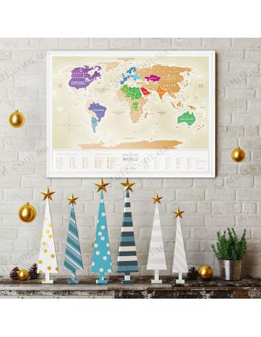 Скретч карта світу Travel Map «Gold World» (українською мовою)