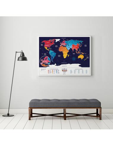 Скретч карта світу Travel Map «Holiday World» (англійською мовою)