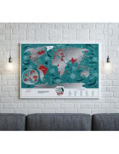 Скретч карта світу Travel Map «Marine World» (англійською мовою)