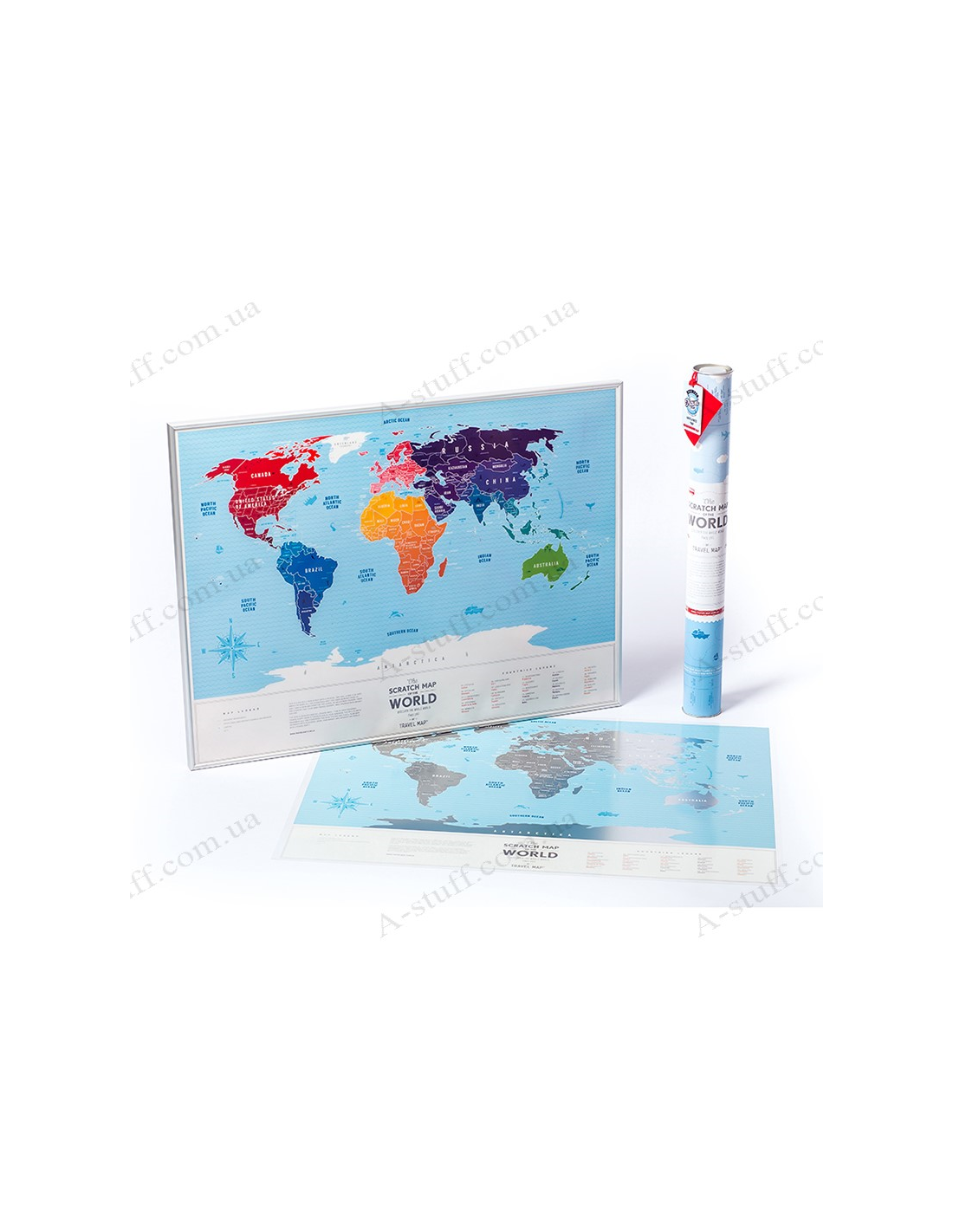 Scratch Map Of The World Travel Map Silver World In English