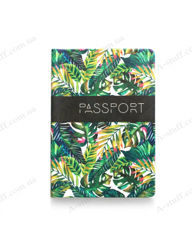 "Cover on the passport ""Palm leaves"""