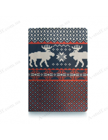 "Cover on the passport ""Deer knitted"""