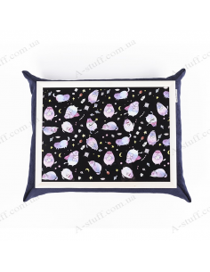 """Table - tray on a pillow laptop / breakfast """"Cosmic cats"""""""