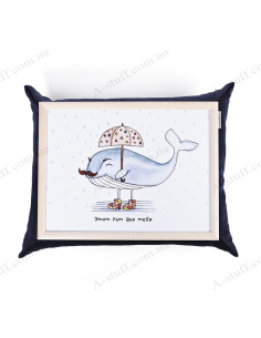 """Table - tray on a pillow laptop / breakfast """"Whale"""""""