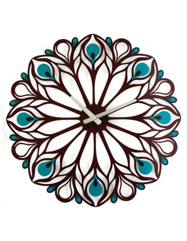 """Металевий настінний годинник """"Peacock Feather"""""""