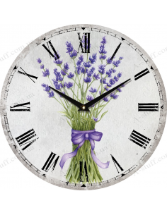 """Clock for wall """"Lavender with ribbon"""""""